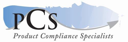 Product Compliance Specialists Ltd Tel: +44 1844 273 277 The Malthouse, Malthouse Square, Fax: +44 1844 273 278 Princes Risborough www.productcompliancespecialists.