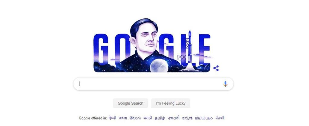 Google remembers Vikram Sarabhai on birth