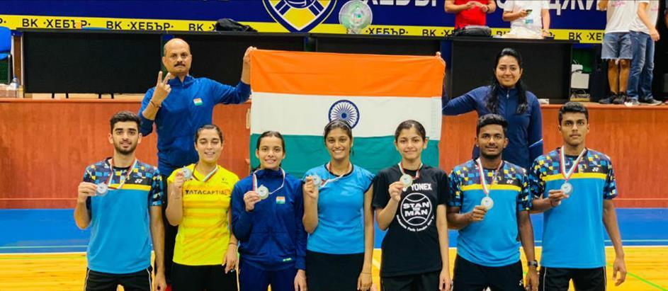 Indian junior shuttlers win 6 medals at Bulgarian